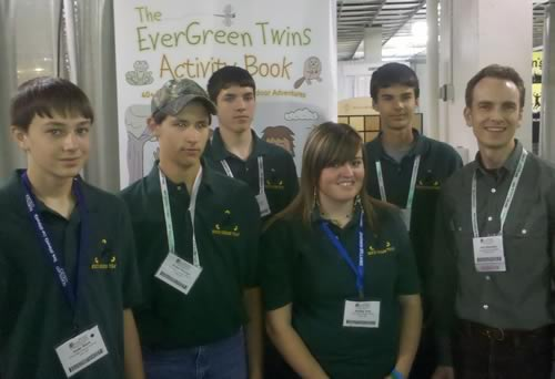 Some of the inspiring students from Eire High Charter School pose with Rick Reynolds.