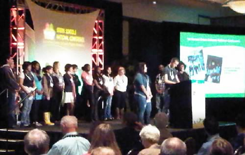 Youth present the results from the Summit, including their school action plans.